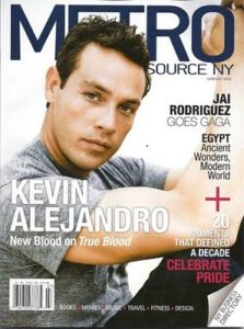 True Blood's Kevin Alejandro in MetroSource Magazine