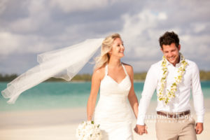 One Foot Island, Aitutaki Wedding: Keiron & Victoria