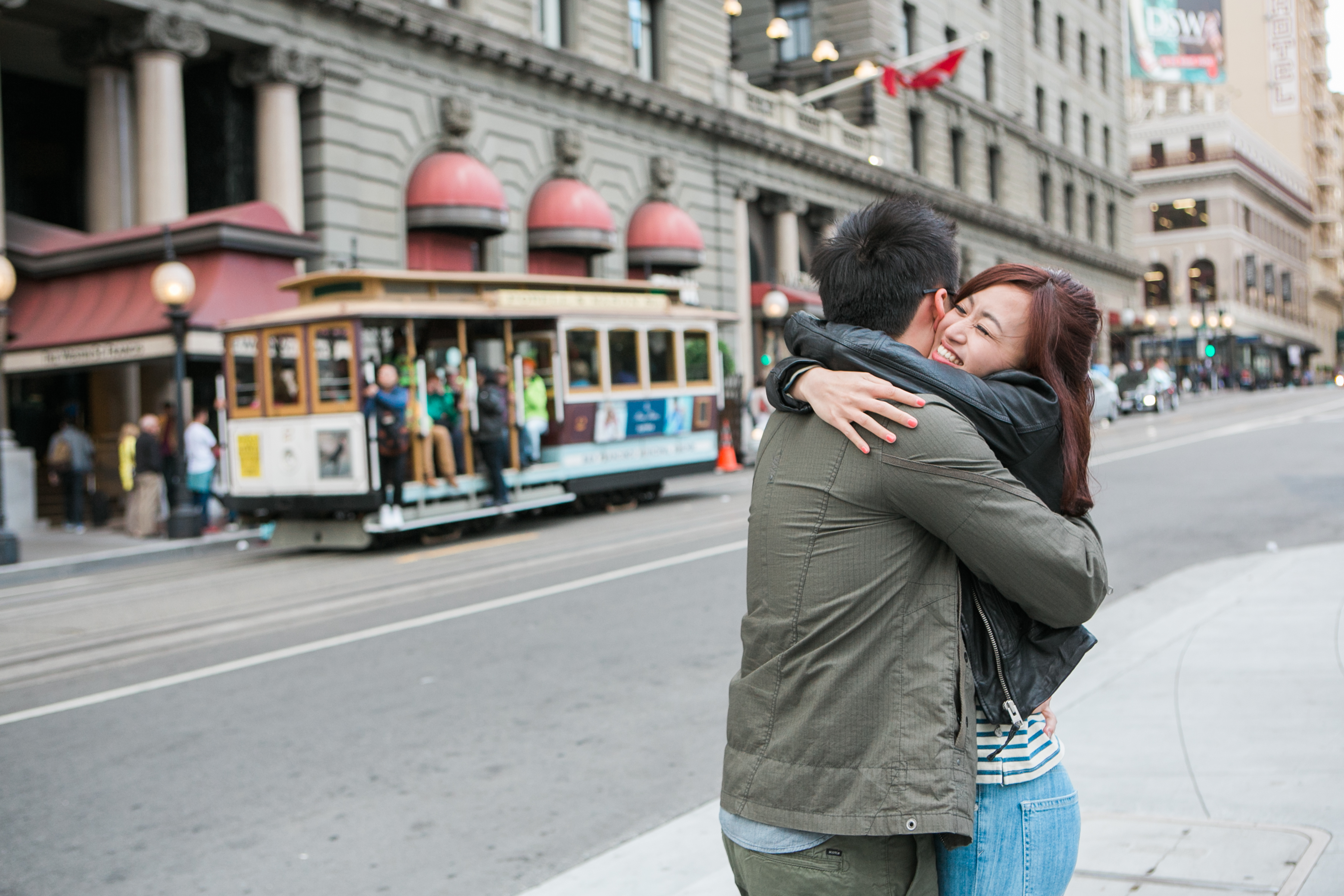 SF Union Square + Embarcadero Engagement Session