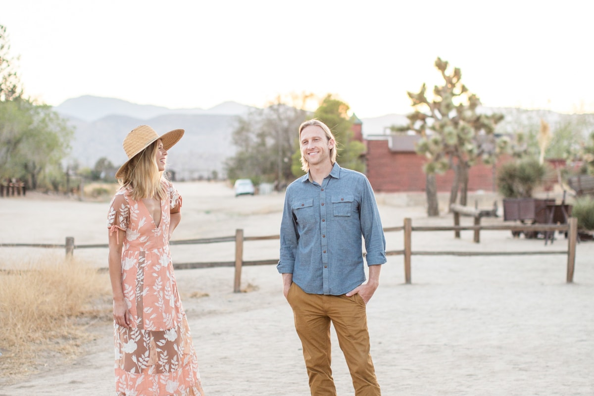 Joshua Tree Engagement Session at Christine Chang Workshops