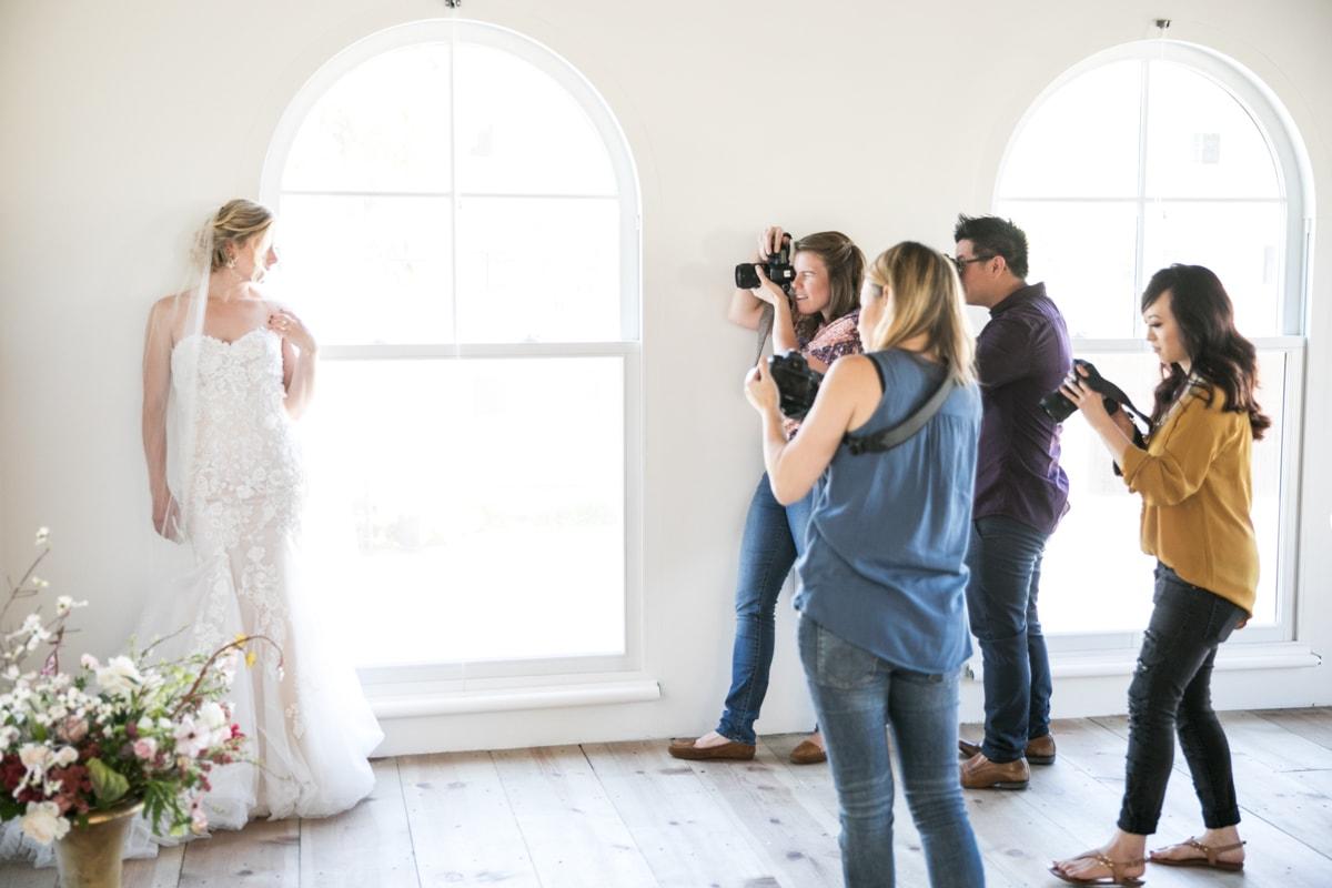 Los Angeles Wedding Photography Workshop Featuring Springtime Florals & A Corgi