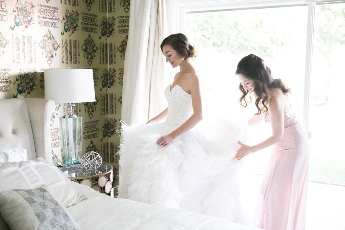 Feather Wedding Dress Inspiration