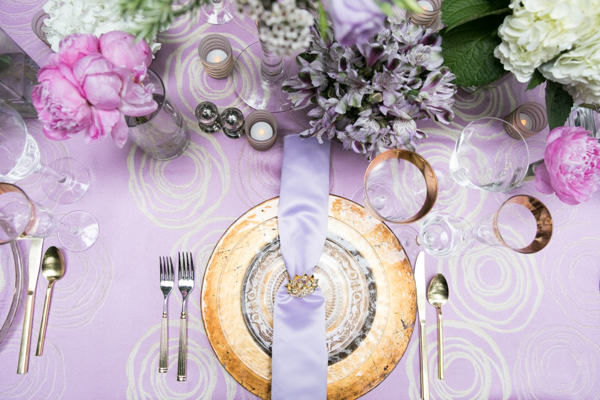 Purple Wedding Tablescape Ideas