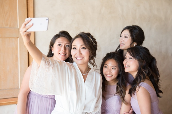 Sunset, Lilac Winery Wedding with Beautiful Vintage Details | Santa Ynez Valley, Santa Barbara California Wedding | Creative Bridesmaid Photographs | christinechangphoto.com - LA Based Wedding Photographer
