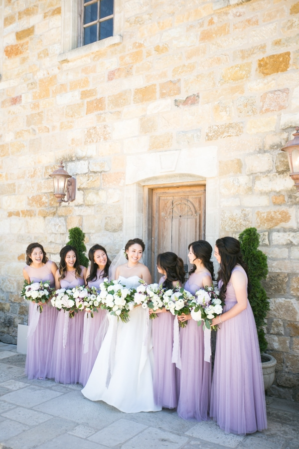 Sunset, Lilac Winery Wedding with Beautiful Vintage Details | Santa Ynez Valley, Santa Barbara California Wedding | Bridesmaid Photos | christinechangphoto.com - LA Based Wedding Photographer