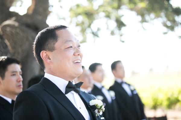 Sunset, Lilac Winery Wedding with Beautiful Vintage Details | Santa Ynez Valley, Santa Barbara California Wedding | Groom | christinechangphoto.com - LA Based Wedding Photographer