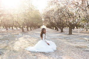These Stunning Almond Blossoms Create The Perfect Bridal Backdrop