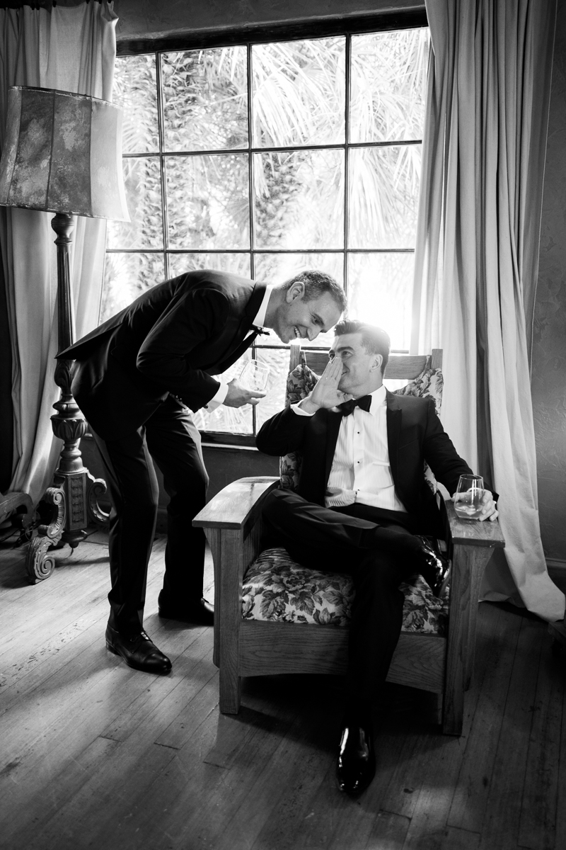 Groomsmen Getting Ready. Wedding at The Mountain Mermaid in Topanga. www.christinechangphoto.com
